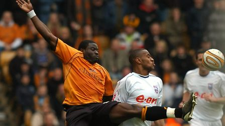 New Colchester United signing, George Elokobi, in action for Wolves