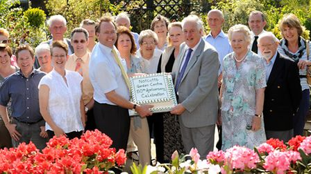 Staff past and present celebrated the Woodbridge Notcutts garden centre�s 50th anniversary with Will