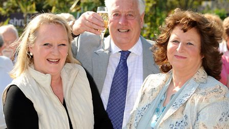 Former floristry department managers Sally Pearson (left) and Isobel Wilton with Charles Notcutt, ce
