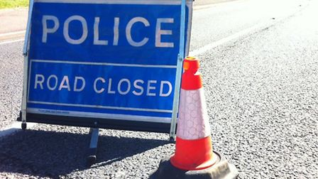 A turning HGV blocked a Suffolk road