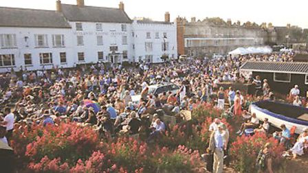 A crowded sea-front for Music by the Sea