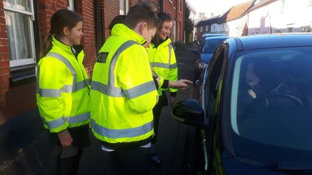 Pupils from Eye Primary School got the chance to use a speed gun, learning how to record the speed o