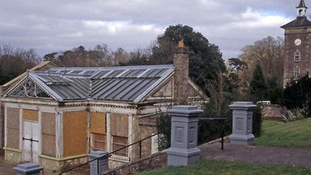 The conservatory in Holywells Park, when it was looking somewhat sadder