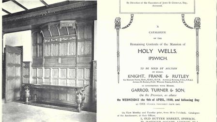 The cover of the auction catalogue from 1930 as the contents of Holy Wells were sold