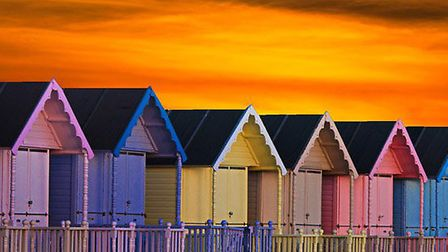 Beach huts at Mersea, pictured by Martin Newman