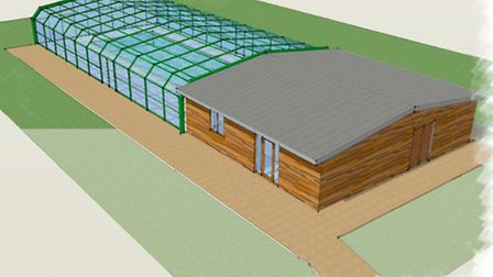 A drawing of the proposed Debenham Community Swimming Pool
