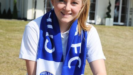 Hollie Clement of St Joesphs College, Ipswich who has just signed for Chelsea Ladies Football Academ