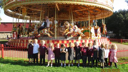 Bressingham Primary School's reception class had a fun packed day when they visited Wyevale Garden C