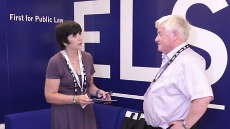 Shirley Jarlett, assistant director at ELS, formerly Essex Legal Services, talking to a visit to its
