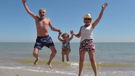 Crowds of people head to the beach at Felixstowe to enjoy the scorching temperatures. Ken Webb,Livi