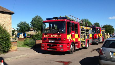 Fire engines - stock photo