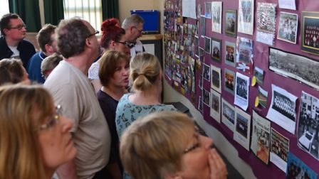Past and present pupils of Stowmarket Middle School visit the open evening at the school which is to