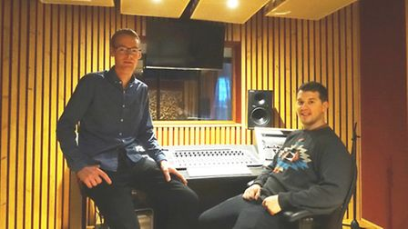 Recording studio manager Steve Long (right) and Hunter Club manager Nick Pooley in the studio.