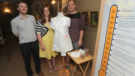 The 50th anniversary exhibition at the Theatre Royal in Bury. L-R: Ben Willmott (appearing in 'Labou