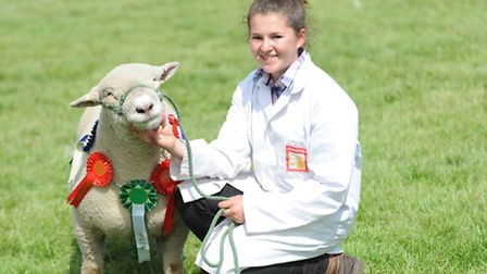 Thousands of visitors enjoyed the second day of the Suffolk Show 2015. Holly Cutkin with her award