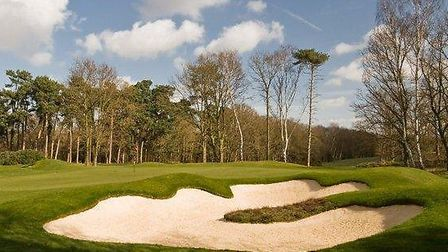The re-designed bunker at the first hole at Purdis Heath. Photograph: Moira Ellice.