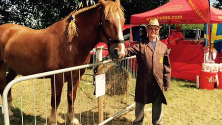 The Suffolk Punch Trust were in attendance, with volunteer from the trust Russell Large.