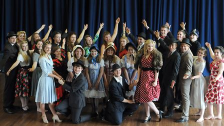 The Suffolk Young Peoples Theatre who are staging Guys and Dolls at the Theatre Royal, in Bury St Ed