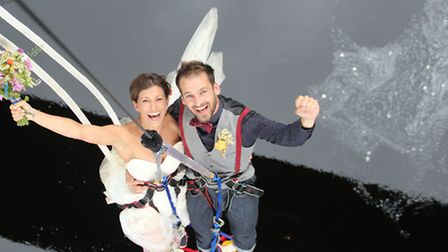 Ross Basham, 33, and Hannah Phillips, 27, who jump-started married life by holding their wedding on