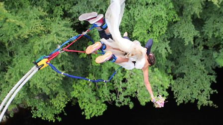 A flying start to married life - Ross and Hannah take the plunge