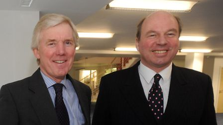 Mark Oliver, right, and Peter Start at the Ipswich office of Savills.