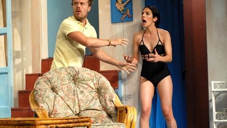 Rikki Lawton & Amy Christina Murray in Suffolk Summer Theatre's production of Anybody for Murder.