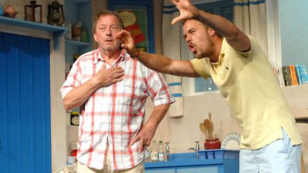 Clive Flint & Rikki Lawton in Suffolk Summer Theatre's production of Anybody for Murder