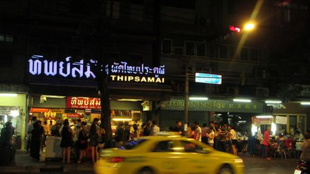 Queues outside the Bangkok restaurant famous for its Pad Thai