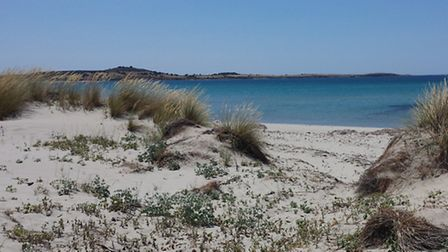 'A' Beach at Suvla Bay, where the 5th Suffolks landed in August, 1915.