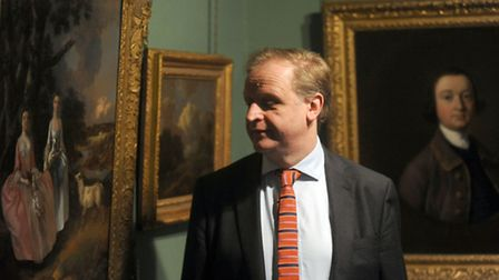 Mark Bills is pictured at Gainsborough House in Sudbury. A new Great Art in Suffolk Museums exhibiti