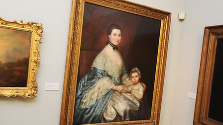 Great Art in Suffolk Museums exhibition. Gainsborough's House. Thomas Gainsborough. Mrs Bedingfield