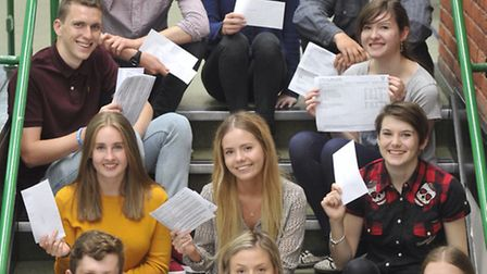 Colchester Sixth Form students get their A Level results.