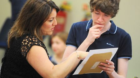 A-level results 2015. County Upper School, Bury St Edmunds.