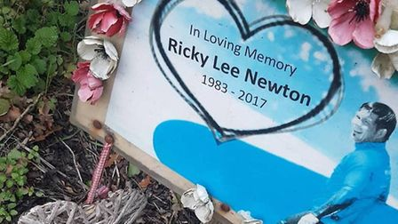 Carly Newton's memorial to her brother Rik. PHOTO; Carly Newton