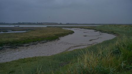 You can still enjoy the Suffolk countryside in the rain. Pictured is the River Deben from Falkenham.