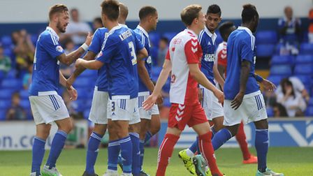 Ipswich Town FC V Utrecht FC. Pre- season friendly. David McGoldrick equalises from the penalty sp