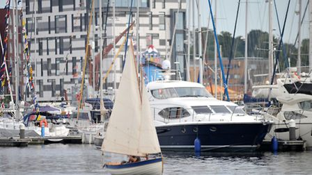 Crowds flock to the Ipswich Waterfront for the Maritime Festival.