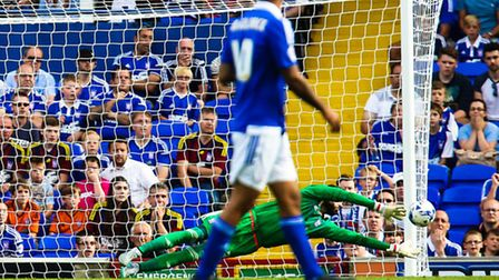 Bartosz Bialkowski pulled off this fine save during the Ipswich Town v Sheffield Wednesday match at