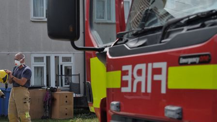 Firefighters tackle kitchen blaze. Library image.