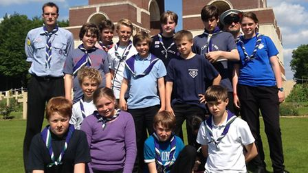 The Hadleigh Great War Centenary project took local Scouts on a trip to First World War battlefields