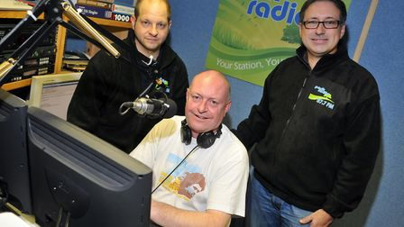 John Cross, Mark Pryke and Chris Moyse in 2010 after Park Radio was launched. PHOTO: Sonya Duncan