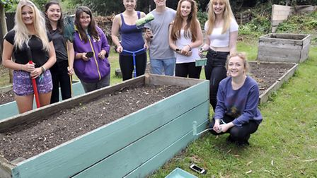 Students taking part in the National Citizen Service programme spent a week sprucing up Genesis Menc