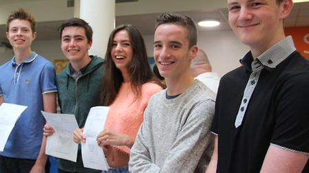 Felixstowe Academy students with their GCSE results.