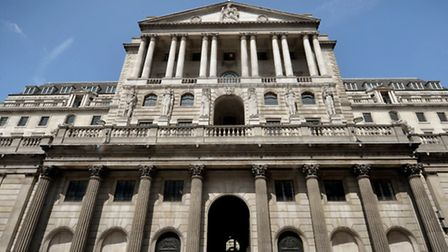 The Bank of England building in London.