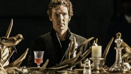 Benedict Cumberbatch as Hamlet in a production at the Barbican centre, London. The theatre industry