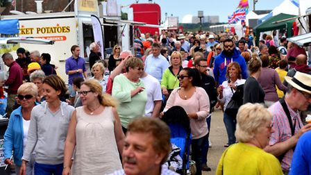 Large crowds in Aldeburgh on the second day of the town's carnival.