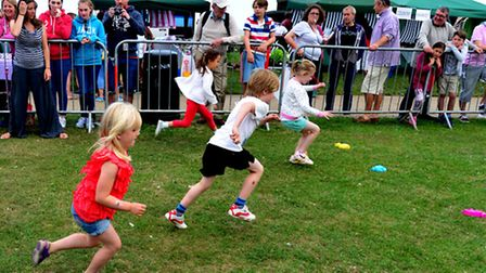 Youngsters take part in races in Aldeburgh on the second day of the town's carnival.