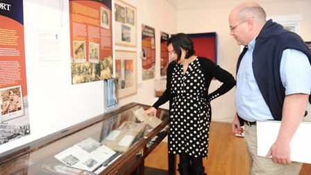 James Marston visits Braintree and District Museum to see their WWII exhibition. Claire willetts