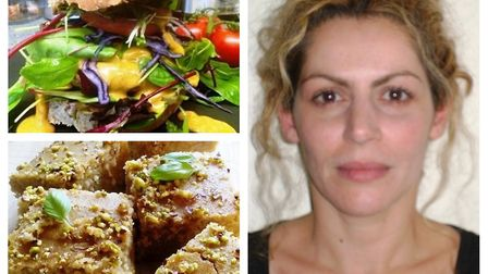 Suffolk-based foodie Erasmia Kyriakou will be selling plant-based dishes and vegan cakes when she op