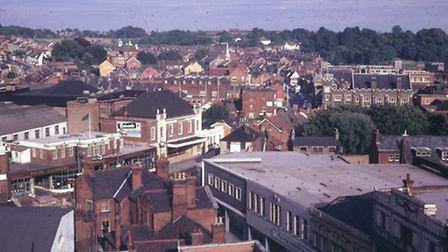 The Regent from Carr Street (precinct) in an early 1970s photograph from the Ipswich Society collect